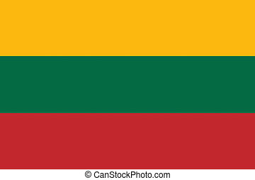 Lithuania flag illustration of european country