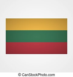 Lithuania flag on a gray background. Vector illustration