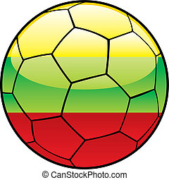 Lithuania flag on soccer ball