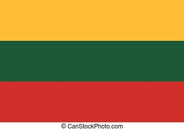 Lithuania Flag. Vector Format