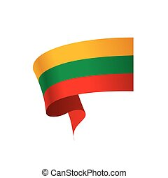 Lithuania flag, vector illustration