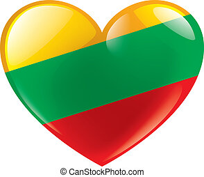 Lithuania flag, vector illustration on a white background. -...