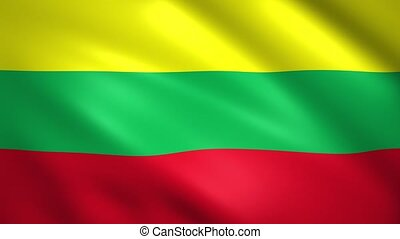 Lithuania flag waving in the wind