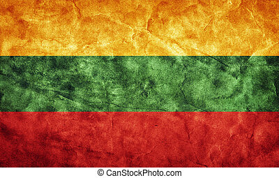 Lithuania grunge flag. Item from my vintage, retro flags collection
