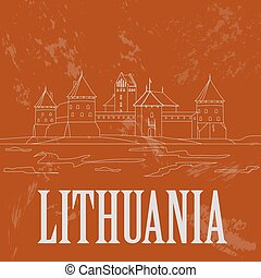 Lithuania infographics, statistical data, sights. Vector...