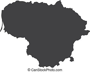 Lithuania map in black on a white background. Vector illustration