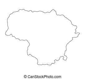 Lithuania Map Vector Clip Art Royalty Free Lithuania Map - Lithuania map vector