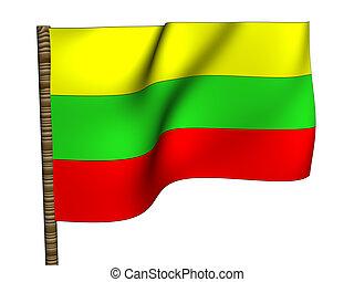 Lithuania. National Flag