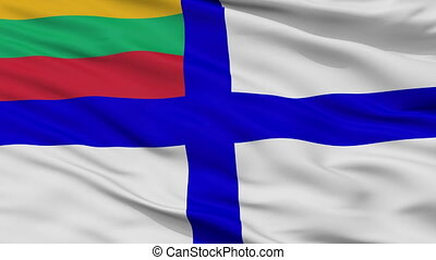 Lithuania Naval Ensign Flag Closeup Seamless Loop - Naval ...