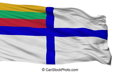Lithuania Naval Ensign Flag Isolated Seamless Loop - Naval...
