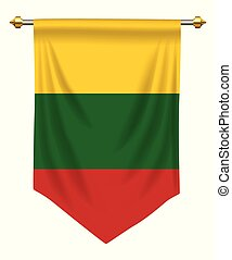 Lithuania Pennant - Lithuania flag or pennant isolated on...