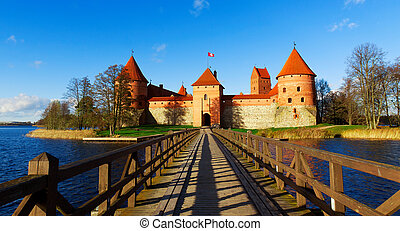 Lithuania, Trakai: panoramic views to the castle
