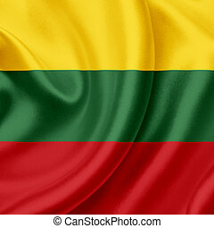 Lithuania waving flag
