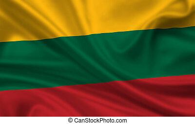Lithuania - waving flag of lithuania