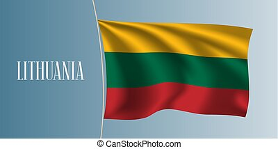 Lithuania waving flag vector illustration
