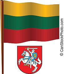 lithuania wavy flag