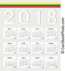 Lithuanian 2017 calendar
