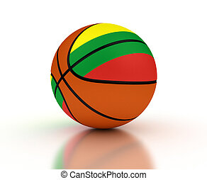 Lithuanian Basketball Team (isolated with clipping path)