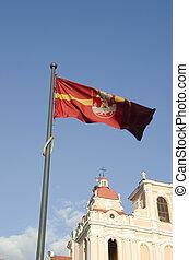 Lithuanian capital Vilnius city flag