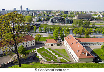 Lithuanian capital Vilnius panorama with Neris river