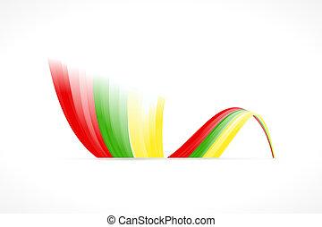 Lithuanian flag - Abstract Lithuanian waving flag isolated ...