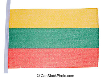 Lithuanian flag against a white background