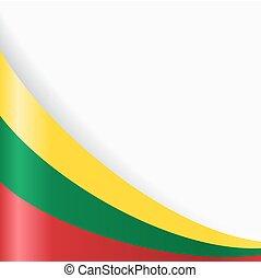 Lithuanian flag background. Vector illustration. - ...