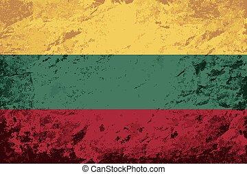 Lithuanian flag Grunge background. Vector illustration Eps 8...