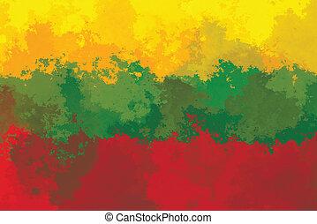 Lithuanian flag - grunge design pattern