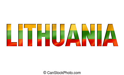 lithuanian flag text font. lithuania symbol background