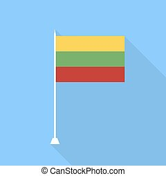 Lithuanian flag. Vector illustration .