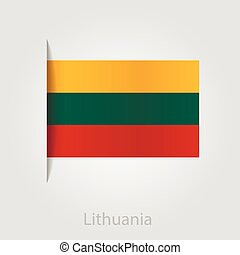 Lithuanian flag, vector illustration