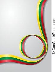 Lithuanian flag wavy background. Vector illustration. - ...
