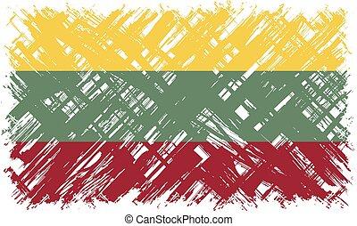 Lithuanian grunge flag. Vector illustration. Grunge effect ...