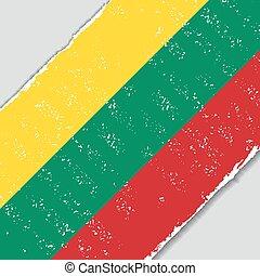Lithuanian grunge flag. Vector illustration. - Lithuanian ...