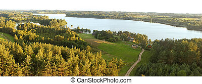 Lithuanian landscape - lake Srove (Srovinaitis) in Ignalina ...