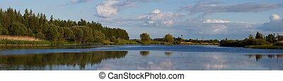 Lithuanian landscape panorama