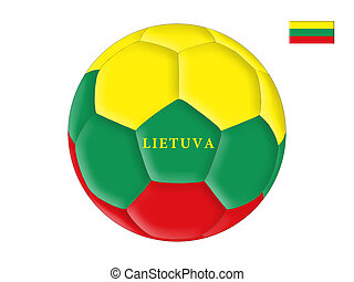 Lithuanian soccer - Soccer ball in colors of the flag of ...