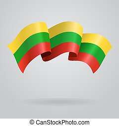 Lithuanian waving Flag. Vector illustration Eps 8.