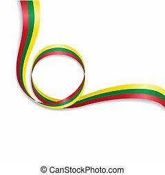 Lithuanian wavy flag background. Vector illustration. - ...