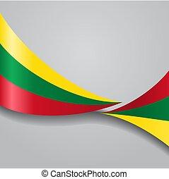 Lithuanian wavy flag. Vector illustration. - Lithuanian flag...