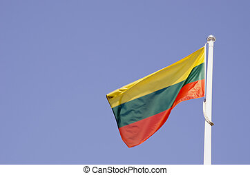 Lithuanina tricolor flag.