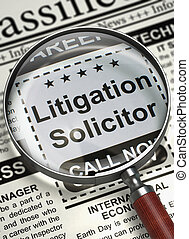 Litigation Solicitor Wanted. 3D.