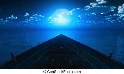 litle boat full moon