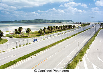 litoral, estrada