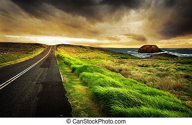 litoral, rodovia