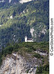 Littel chapel on cliff - Chapel St. Georg at Berschis,...