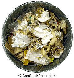 Litter bin garbage trash can