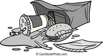 Litter Illustration