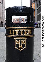 Litter - A litter bin in Dublin, Ireland.